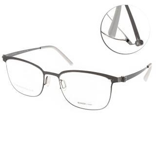 【VYCOZ 光學眼鏡】薄鋼工藝 休閒簡約款(銀#DECK GUN-GUN)