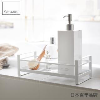 【YAMAZAKI】MIST瓶罐小物收納單層架(白)
