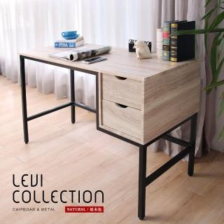 【H&D】裏斯特工業風個性鐵架雙抽書桌/不含椅