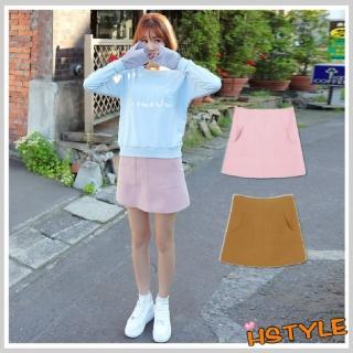 【創翊韓都】A字裙 質感口袋顯瘦A字短裙JT5942(預購)