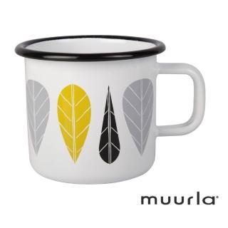 【芬蘭Muurla】黃葉琺瑯馬克杯-370ml(muurla 琺瑯杯 咖啡杯)