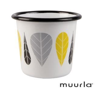 【芬蘭Muurla】黃葉琺瑯杯-200ml(muurla 琺瑯杯)