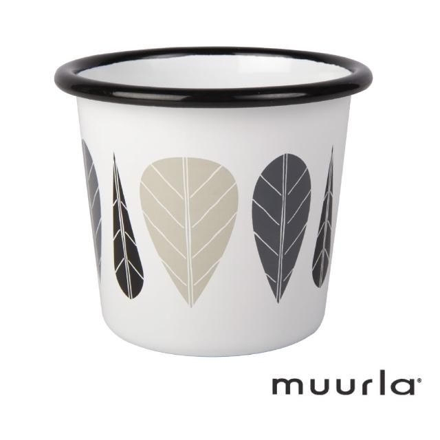 【芬蘭Muurla】黑葉琺瑯杯-200ml(muurla 琺瑯杯)