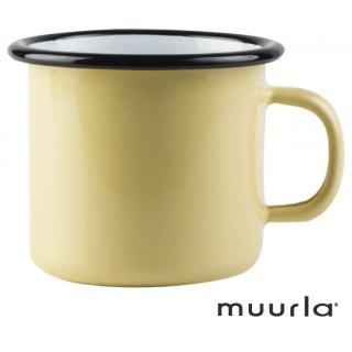 【芬蘭Muurla】琺瑯馬克杯-基本黃250ml(muurla 琺瑯杯 咖啡杯)