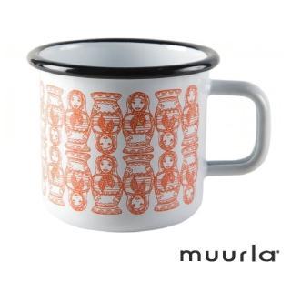 【芬蘭Muurla】俄羅斯娃娃琺瑯馬克杯-370ml(muurla 琺瑯杯 咖啡杯)
