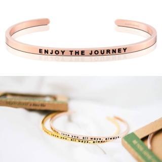 【MANTRABAND】美國悄悄話手環 Enjoy the Journey 享受人生 玫瑰金(悄悄話手環)