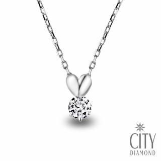 【City Diamond引雅】『愛心小音符』18分鑽石項鍊(跳躍音符系列)