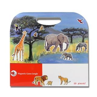 【BabyTiger虎兒寶】比利時 Egmont Toys 艾格蒙繪本風遊戲磁貼書(叢林動物)