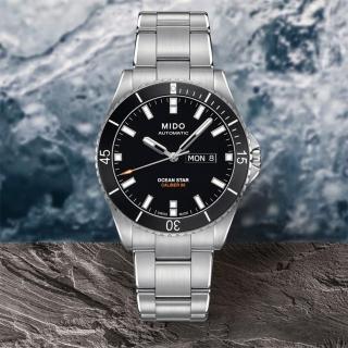 【MIDO】Ocean Star Caliber 80 200m潛水機械腕錶-黑x銀(M0264301105100)