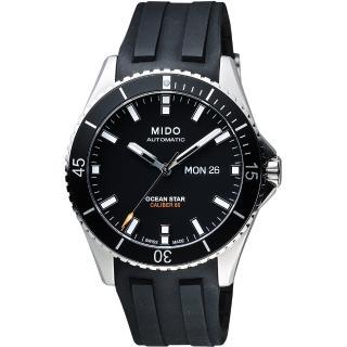【MIDO】Ocean Star 200m潛水機械腕錶-黑/41mm(M0264301705100)
