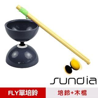 【三鈴SUNDIA】台灣製造FLY長軸培鈴扯鈴-附木棍、扯鈴專用繩(黑色)
