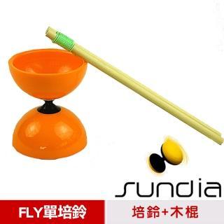 【三鈴SUNDIA】台灣製造FLY長軸培鈴扯鈴-附木棍、扯鈴專用繩(橘色)