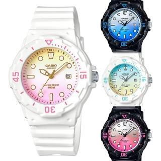 【CASIO】雙色漸層運動潛水風格腕錶(LRW-200H 新品系列)