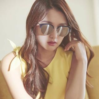 【PAUL HUEMAN 太陽眼鏡】韓風眉框水銀鏡面款(藍#PHS1070A C08)