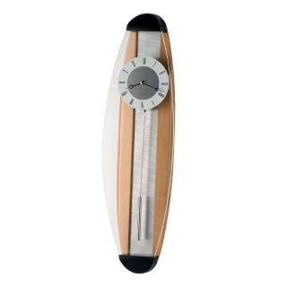 【DeeDa鐘情坊 P00562】極簡風曲木線條特殊設計木搖擺鐘 時鐘(台製搖擺石英機芯  超省電)