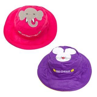 【Flapjack kids】雙面防曬漁夫帽(小老鼠/小灰象)