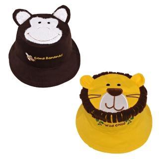 【Flapjack kids】雙面防曬漁夫帽(獅子王/小猴子)