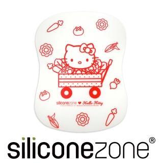 【Siliconezone】施理康Hello Kitty廚房料理耐熱軟式覘板墊-紅色