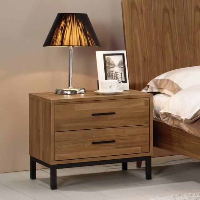 【Bernice】諾德1.8尺淺胡桃色床頭櫃