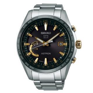 【SEIKO ASTRON】衛星定位GPS太陽能腕錶/鈦金屬錶款(黑/8X22-0AG0K)