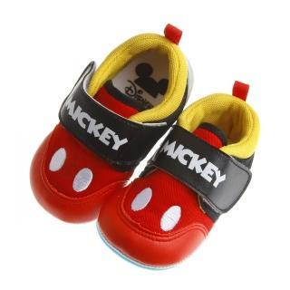 【布布童鞋】Disney迪士尼米奇紅黑色透氣寶寶學步鞋(MAY259A)