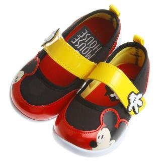 【布布童鞋】Disney迪士尼米奇圖樣黑紅配色休閒鞋室內鞋(MDY401D)