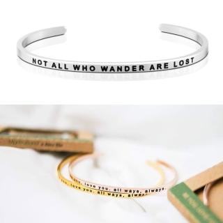 【MANTRABAND】美國悄悄話手環 Not All Who Wander Are Lost 銀色(悄悄話手環)