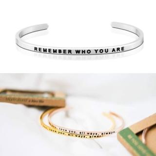 【MANTRABAND】美國悄悄話手環 Remember who you are 莫忘初衷 銀色(悄悄話手環)