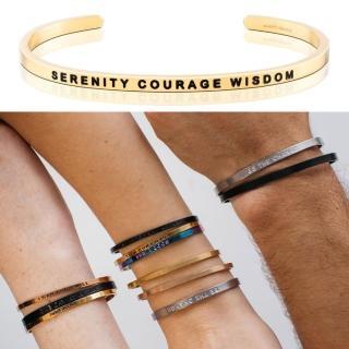 【MANTRABAND】美國悄悄話手環 Serenity Courage Wisdom 金色(悄悄話手環)