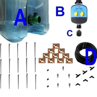 【灑水達人】10公升水桶式單孔定時15個滴灌套裝系列