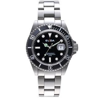 【ELIDA】紳士風格鋼帶石英錶(EA2908M-D)