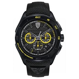 【FERRARI】法拉利決定速度運動腕錶(黃/0830345)