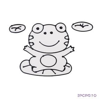 【BabyTiger虎兒寶】愛玩色 兒童無毒彩繪玻璃貼-大張圖卡 - 青蛙 ipcpb10  台灣製(DIY 玻璃貼)