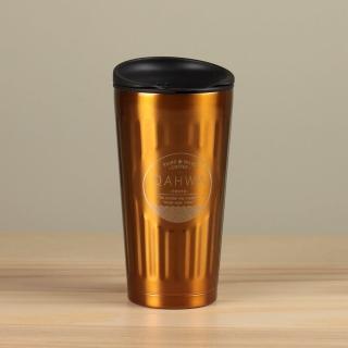 【日本CB JAPAN】Qahwa第三波聞香隨行咖啡專用保溫杯/保冷杯310ml-香檳金