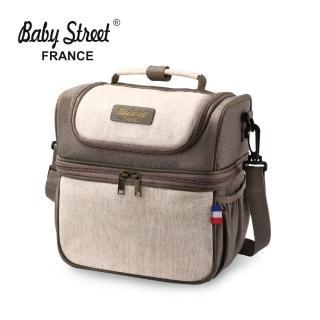 【法國 Baby Street】FRANCE 雙揹式母乳保冷袋(附冰磚2入)