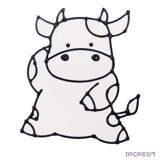 【BabyTiger虎兒寶】愛玩色 兒童無毒彩繪玻璃貼-小張圖卡-小牛 ipcpS07 台灣製(DIY 玻璃貼)