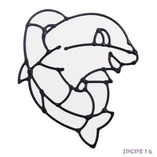 【BabyTiger虎兒寶】愛玩色 兒童無毒彩繪玻璃貼-小張圖卡-海豚 ipcpS16 台灣製(DIY 玻璃貼)