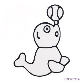 【BabyTiger虎兒寶】愛玩色 兒童無毒彩繪玻璃貼-小張圖卡-海獅 ipcpS09 台灣製(DIY 玻璃貼)