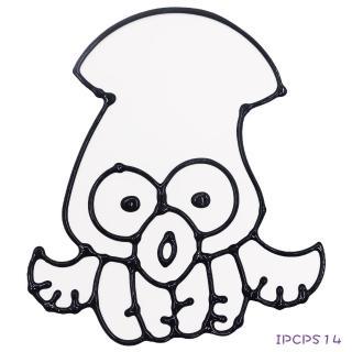 【BabyTiger虎兒寶】愛玩色 兒童無毒彩繪玻璃貼-小張圖卡-烏賊 ipcpS14  台灣製(DIY 玻璃貼)