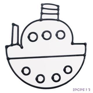 【BabyTiger虎兒寶】愛玩色 兒童無毒彩繪玻璃貼-小張圖卡-船 ipcpS13  台灣製(DIY 玻璃貼)