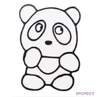 【BabyTiger虎兒寶】愛玩色 兒童無毒彩繪玻璃貼-小張圖卡-熊貓 ipcpS02 台灣製(DIY 玻璃貼)