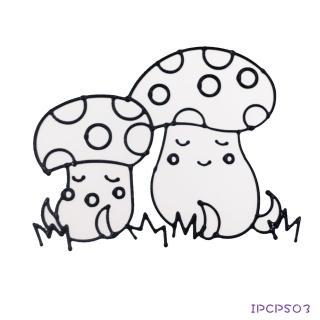【BabyTiger虎兒寶】愛玩色 兒童無毒彩繪玻璃貼-小張圖卡-蘑菇 ipcpS03  台灣製(DIY 玻璃貼)