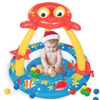 【寶貝樂】螃蟹嬰兒充氣水池/游泳池