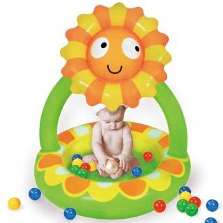 【寶貝樂】小花嬰兒充氣水池/游泳池