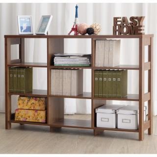 【EASY HOME】三層九格隔間展示收納櫃(美禪白)