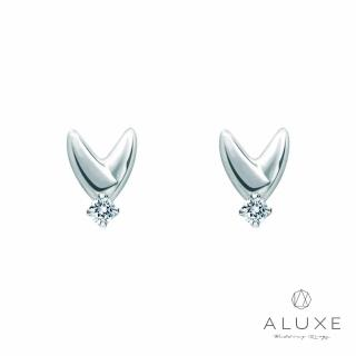 【A-LUXE 亞立詩】My Angel 0.06克拉 美鑽耳環