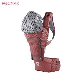 【POGNAE】NO.5超輕量機能坐墊型背巾(紐約紅)