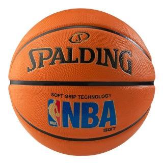 【SPALDING】斯伯丁 SGT 深溝柔軟膠 NBA 籃球 7號(經典橘)