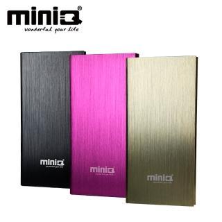 【miniQ】iBook8000mAh超薄金屬髮絲紋雙輸出行動電源(寶可夢必備神器)