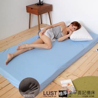 【Lust 生活寢具】《6呎10公分-全平面/備長炭記憶床墊/含提袋》完美支撐 -惰性矽膠床《日本原料》台灣製